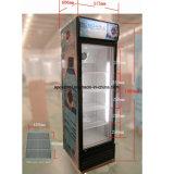 anerkannter einzelner Tür-Glaskühlraum des Cer-360L mit Rädern