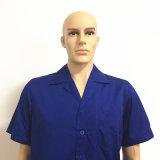 Franc orange de tissu de circuit de chemise salut de bande r3fléchissante visible de vêtements de travail respirables d'été pour les hommes