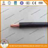 UL eléctrica 600V del alambre de cobre 12AWG 10AWG de Thw TW Thwn Thhn