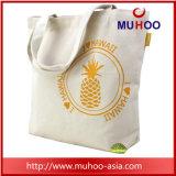 O algodão relativo à promoção personalizado da bolsa do Tote da lona ostenta o saco para a praia