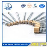 Zhejiang Twisted Steel Wire Rope Hexagon 12 Strands 18 Strands / Galvanisé Steel Wire Rope
