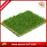Paisaje con césped sin agua de la hierba artificial
