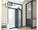 Push Pull Interior Alumínio Casement Door with Double Tempered Glass