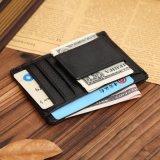 Magnet-Geld-Klipp-Kartenhalter-Mann-echtes Leder-Mappe
