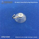 Qinuo grande cuvette en plastique claire d'aspiration de 25 millimètres avec le crochet en métal