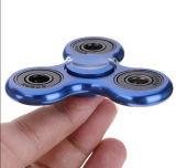 El aluminio metálico Tri Spinner Fidget juguete Spinner mano para adultos de los niños