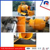 Pompe concrète de remorque hydraulique mobile de fabrication de poulie avec le mélangeur de tambour (JBT40-P)