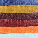 Vario cuero colorido del PVC de la PU de Rexine del cocodrilo para el equipaje del zapato del bolso