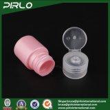 bottiglia di plastica di colore dentellare 15ml con la protezione della parte superiore di vibrazione per la bottiglia cosmetica di plastica della lozione della lozione del tastatore di formato portatile cosmetico di corsa