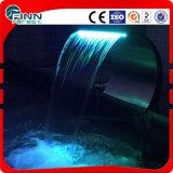 Caduta esterna dell'acqua dell'acciaio inossidabile con l'indicatore luminoso del LED