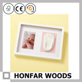 Het creatieve Houten Frame van Footprint&Handprint van de Baby van de Liefde voor Gift