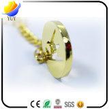 Edles Goldfarben-Höhlung-Gussteil-Metallschlüsselkette