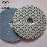 Almofada de polonês flexível seca do diamante novo com etapa 5