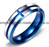 Shineme 보석 텅스텐 탄화물 자연적인 색깔 반지 상감세공 목제 반지 (TST2853)