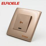 Interruptor de controle de porta de cor dourada