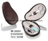 Förderung-Inner-Form-roter lederner Reißverschluss-Maniküre-Set Pedicure Installationssatz