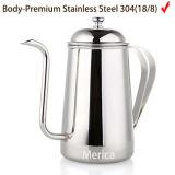 L'acciaio inossidabile versa sopra l'insieme di tè della caldaia del caffè
