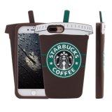 Caixa bonito super do silicone do copo de café da forma 3D Starbucks de Mc