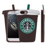 cassa unica del silicone di Universial della tazza di caffè di iPhone 7 3D Starbucks