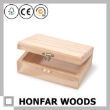 DIYのための未完成の未加工固体木のギフト用の箱の収納箱