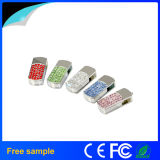 China Promocional Gift Promocional Crystal Metal USB Pen Drive 4GB 8GB