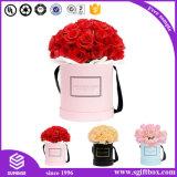Коробка цветка изготовленный на заказ цилиндра Cmyk упаковывая круглая бумажная