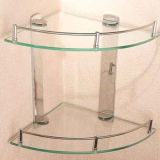 Étagère en verre Tempered utilisée dans la salle de bains