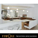 Okkernoot Gefineerde Keukenkasten met Hoog het Schilderen van de Glans ontwerp tivo-0166h
