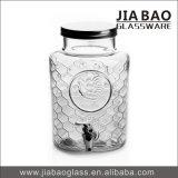 grosses Saft-Natronkalkglas geprägtes Glasglas des Getränk7000ml