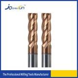 Moinho de extremidade contínuo do quadrado do carboneto das flautas do fabricante 4 de China