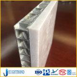 Panneau en aluminium de marbre en pierre léger de nid d'abeilles de façade blanche pour des matériaux de construction