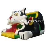 Cartoon Cat Bungee gonflable Jump Bouncy diaporama
