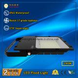 3 años de la garantía IP65 240W LED de luz de inundación al aire libre con 110lm/W y ángulo de haz de 270 grados