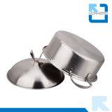 POT della minestra dell'acciaio inossidabile con la doppia parte inferiore