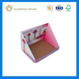 Estante de visualización acanalado impreso color promocional barato del rectángulo (estante de visualización del producto)
