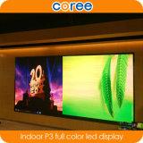 A elevação elevada interna da definição refresca a tela de indicador do diodo emissor de luz da cor cheia de SMD P3