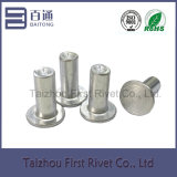 flacher fester Aluminiumhauptniet 6X14