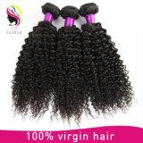 Pelo indio 100% del templo de orden mínima de la cantidad del pelo al por mayor de la Virgen Aaaaa