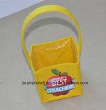 カスタム黄色のフェルトのハンドル袋、非編まれた袋