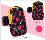 Le sac folâtre le sac courant de bras de matériel de sac de bras de téléphone mobile