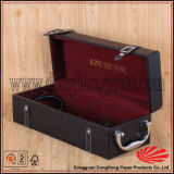 Fábrica Custom Design PU Leather Gift Box para garrafas de vinho