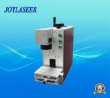 máquina portable de la marca del laser de la fibra 10W para el metal