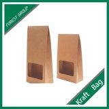 Impreso Kraft Bolsa de papel con asas de papel