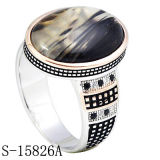 Кольцо человека стерлингового серебра новых моделей 925 мусульманское