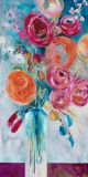 Peinture à l'huile fabriquée à la main décorative moderne colorée