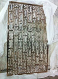 schermo perforato dell'acciaio inossidabile dello strato dell'ottone 304 201 per la decorazione del ristorante