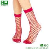 2017 popular de la manera de encargo de la tripulación de nylon Mallas calcetines de las mujeres