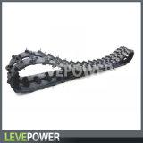 Pistes en caoutchouc spéciales pour les châssis électriques de chenille