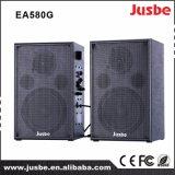 Alto-falante de madeira de 60 Watts 2.0 com ligação de microfone bluetooth 2.4G