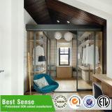 Preiswerter moderner Schlafzimmer-Wand-Furnierholz-Garderoben-Entwurf